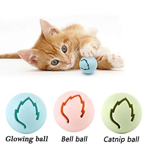 Legendog Katzenspielzeug, Vier Schichten Tierspielzeug Kätzchen Spielzeug Intelligenz Crazy Interactive Katzenspielzeug Tray-Spiel für Katzen (blau + 7 Bälle) - 5
