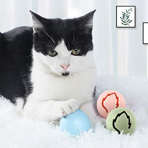 Legendog Katzenspielzeug, Vier Schichten Tierspielzeug Kätzchen Spielzeug Intelligenz Crazy Interactive Katzenspielzeug Tray-Spiel für Katzen (blau + 7 Bälle) - 7