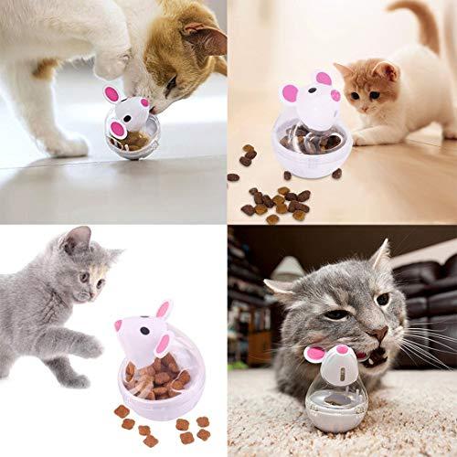 VIKEDI Snackball Katze, Intelligenzspielzeug Für Katzen,Katzenspielwaren,Haustier Katze Lernspielzeug,IQ Leckerli Training Interaktive Kauspielzeug Katze interaktives Spielzeug 2 Stück - 2