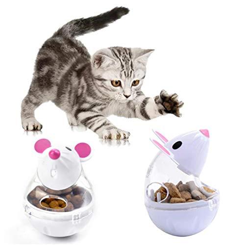 VIKEDI Snackball Katze, Intelligenzspielzeug Für Katzen,Katzenspielwaren,Haustier Katze Lernspielzeug,IQ Leckerli Training Interaktive Kauspielzeug Katze interaktives Spielzeug 2 Stück - 3