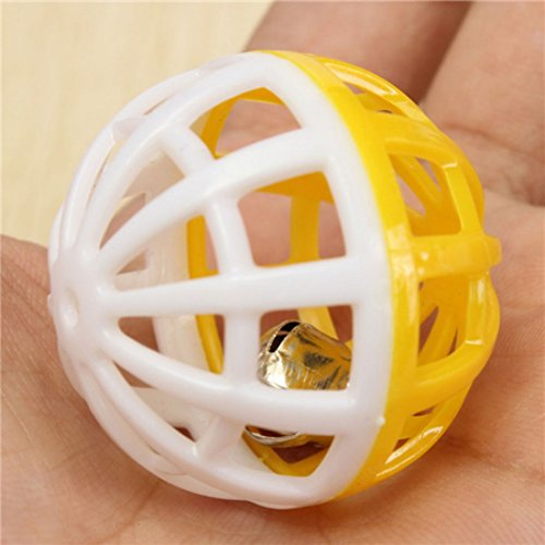 Kungfu Mall Haustier Katze Spielzeug aus Kunststoff Ball Spielen Tinkle Bell Kugel - 2