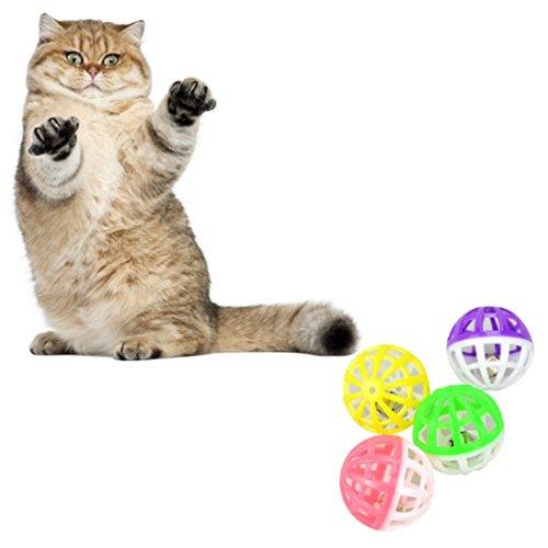 Kungfu Mall Haustier Katze Spielzeug aus Kunststoff Ball Spielen Tinkle Bell Kugel - 5