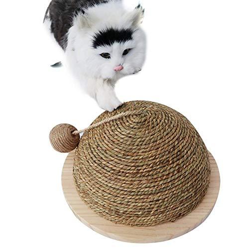 Cosy-Schleifklaue Kugel Katzenspielzeug halbrund große Schleifklaue Kugel Lustiges Katzenspielzeug Klettergerüst Katzenspielzeug Katzenkratzbrett mit hängender Kugel aus Sisal - 5