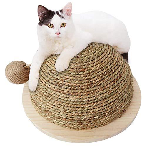 Cosy-Schleifklaue Kugel Katzenspielzeug halbrund große Schleifklaue Kugel Lustiges Katzenspielzeug Klettergerüst Katzenspielzeug Katzenkratzbrett mit hängender Kugel aus Sisal - 6