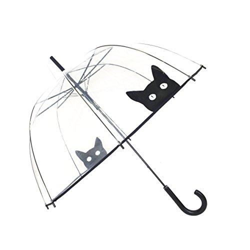 SMATI transparenter Automatik-Regenschirm mit Katze