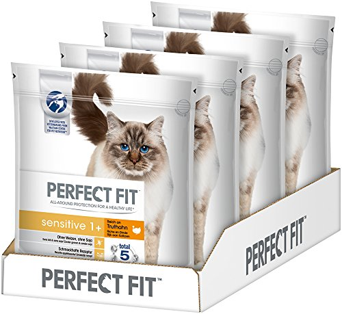 Perfect Fit Katzen-/Trockenfutter Adult 1+, 4 Beutel
