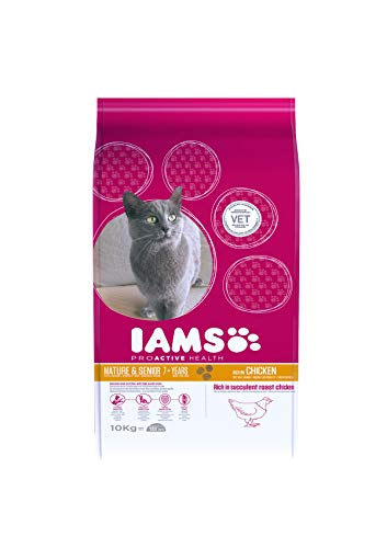 Iams Senior Trockenfutter (Katzen ab 7 Jahre), 10 kg
