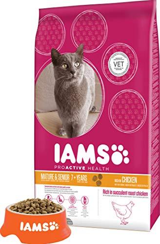 Iams Senior Trockenfutter (für ältere Katzen ab 7 Jahre mit viel Huhn, enthält viel hochwertiges tierisches Protein), 10 kg Beutel - 4