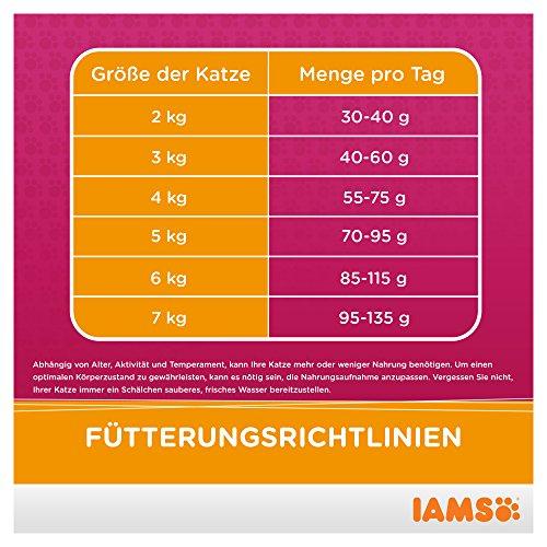 Iams Senior Trockenfutter (für ältere Katzen ab 7 Jahre mit viel Huhn, enthält viel hochwertiges tierisches Protein), 10 kg Beutel - 9