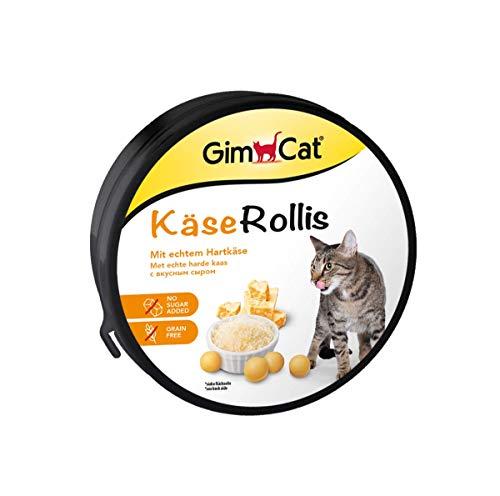 GimCat Käse-Rollis, Vitaminreicher Katzensnack mit Hartkäse