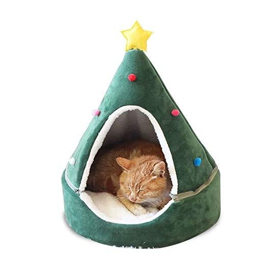 NIBESSER Katzenbett Waschbar Weihnachten Hundebetten Haustierbett Hundesofa Katzensofa Schlafplatz für Katzen Hunde Mat