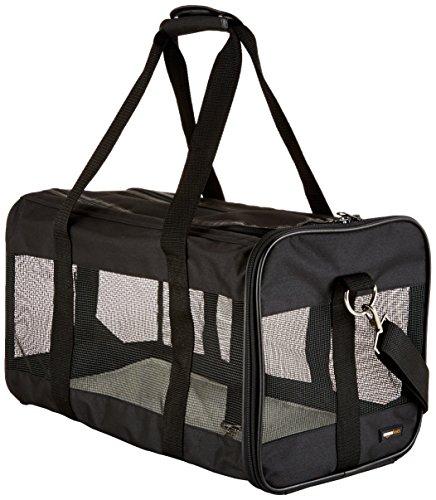 Transporttasche für Haustiere, weiche Seitenteile, Schwarz, Größe L