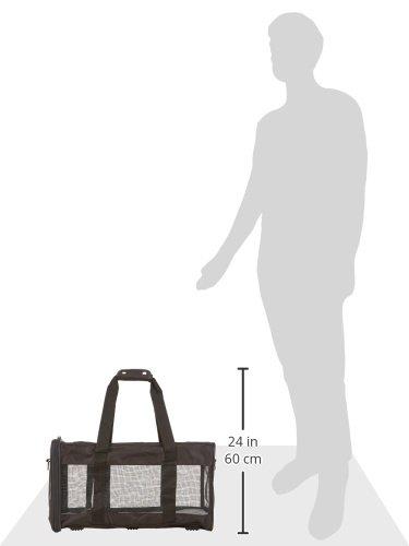 AmazonBasics Transporttasche für Haustiere, weiche Seitenteile, Schwarz, Größe L - 12