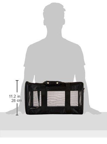 AmazonBasics Transporttasche für Haustiere, weiche Seitenteile, Schwarz, Größe L - 13