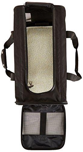 AmazonBasics Transporttasche für Haustiere, weiche Seitenteile, Schwarz, Größe L - 6