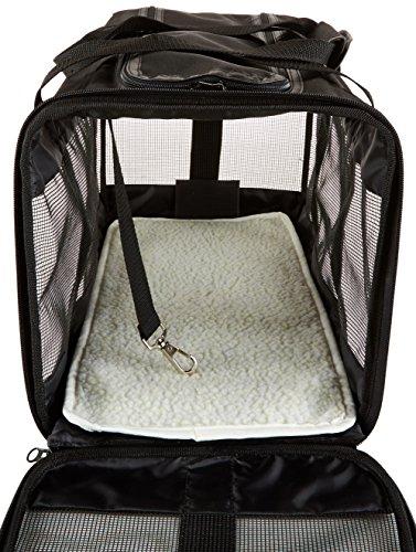 AmazonBasics Transporttasche für Haustiere, weiche Seitenteile, Schwarz, Größe L - 7