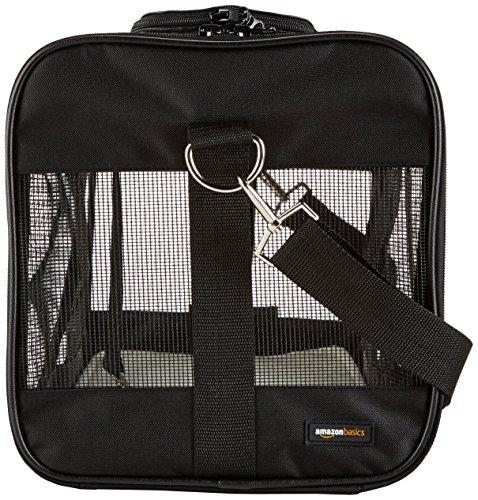 AmazonBasics Transporttasche für Haustiere, weiche Seitenteile, Schwarz, Größe L - 10
