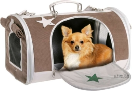 Hunde & Katzentragetasche Star Bag - 45x31x27cm - grau/braun