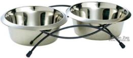 Hunter Doppelnapfständer inkl. 2 Edelstahlnäpfe a 250ml