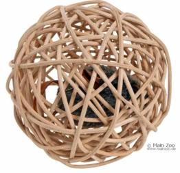 Katzenspielzeug Weidenball mit Soundchip 10cm
