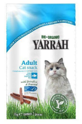 Yarrah Chewy Bars For Cat 3 X 5 G Bio 5 Gr