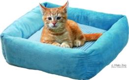 Katzenbett Kitty Pretty, 45 x 45 x 12 cm, hellblau