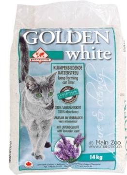 Golden White Katzen-Klumpstreu mit Lavendelduft - 14kg
