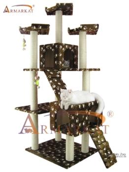 Kratzbaum Armarkat AC7401W - braun-Pfötchenmuster