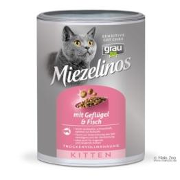 Grau Miezelinos Kitten mit Geflügel und Fisch - 2,5kg