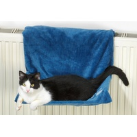 Katzen-Heizkörperliege Plüsch blau